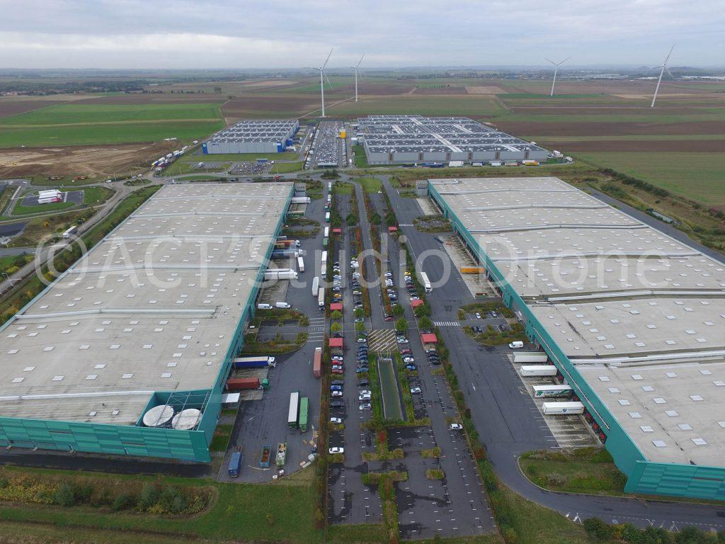 Photographie par drone Nord zone logistique de Lauwin-Planque ©ACT'Studio Drone