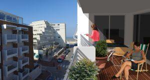 Vue du futur balcon rue Saint-Louis Le Touquet Paris-Plage