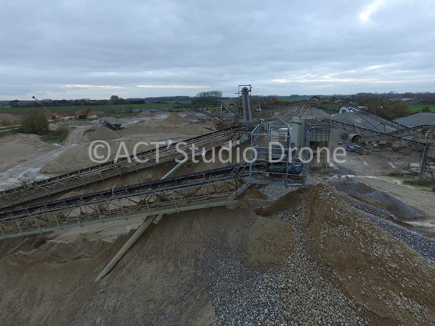Carrière de pierre en Picardie, Photographies aériennes par drone en Picardie. ©ACT'Studio Drone.