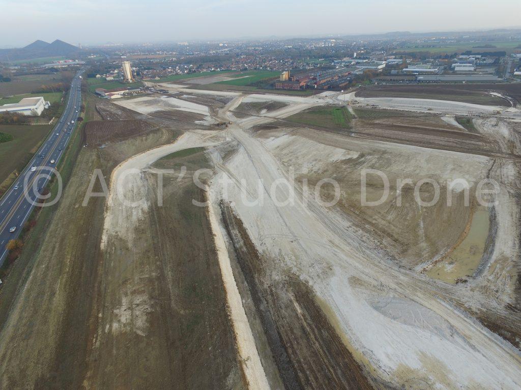 Zone des Alouettes entre Bully-les-Mines et Liévin. ©ACT'Studio Drone.