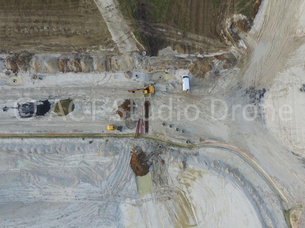 Zone des Alouettes Liévin, les engins sur le chantier. ©ACT'Studio Drone.